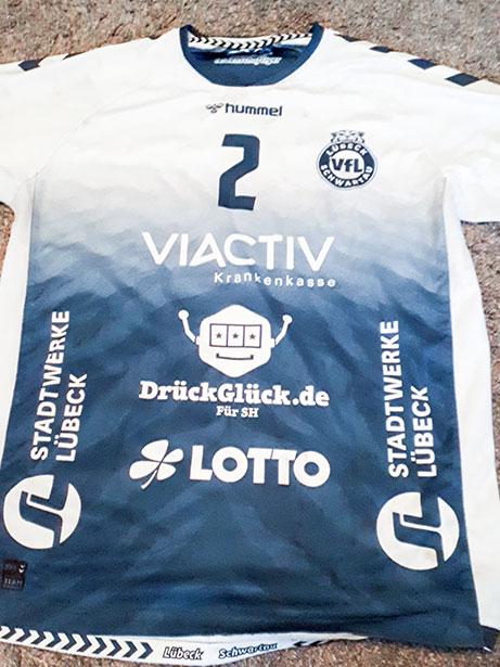 Trikotauktion Handball VfL Lübeck-Schwartau | Vorderseite